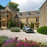 The stunning first impression of Lords of the Manor's Cotswold wedding venue.