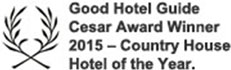Good Hotel Guide Ceasar Award Winner 2015 - Country House Hotel of the Year